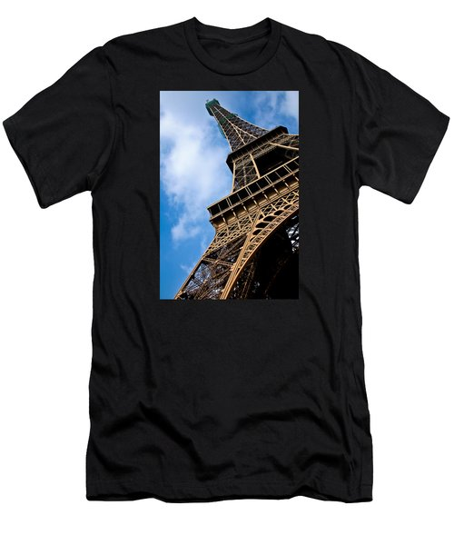 The Eiffel Tower From Below Men's T-Shirt (Athletic Fit)