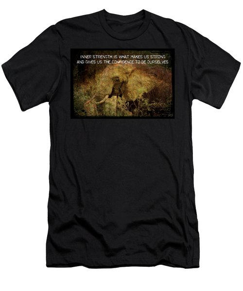 The Elephant - Inner Strength Men's T-Shirt (Slim Fit) by Absinthe Art By Michelle LeAnn Scott