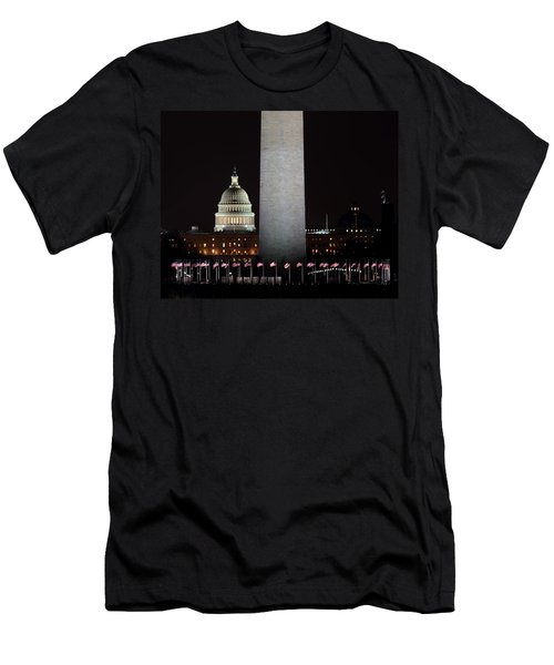 The Essence Of Washington At Night Men's T-Shirt (Athletic Fit)