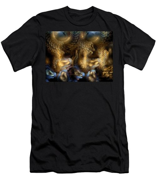 Men's T-Shirt (Slim Fit) featuring the digital art The Far Country by Casey Kotas