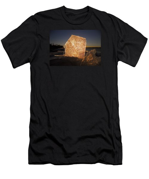 Men's T-Shirt (Slim Fit) featuring the photograph The First Ice ... by Juergen Weiss