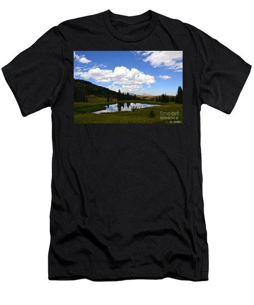 Men's T-Shirt (Athletic Fit) featuring the photograph The Fishing Hole by Dorrene BrownButterfield