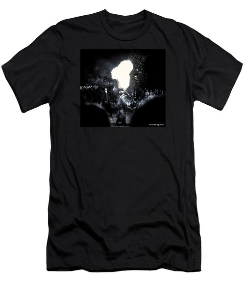 Men's T-Shirt (Athletic Fit) featuring the photograph The Flare Thrower by Stwayne Keubrick