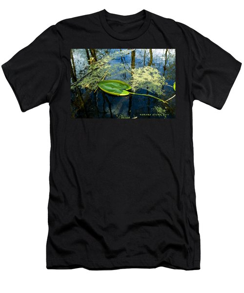 Men's T-Shirt (Slim Fit) featuring the photograph The Floating Leaf Of A Water Lily by Verana Stark