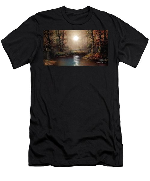 Sunrise Forest  Men's T-Shirt (Slim Fit) by Michael Rucker
