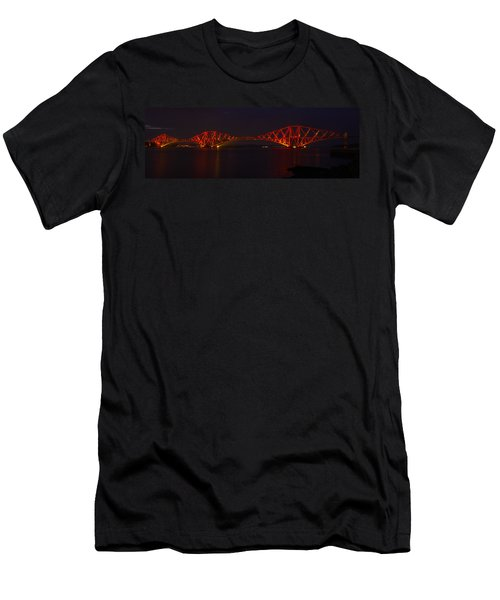 The Forth Bridge By Night Men's T-Shirt (Athletic Fit)