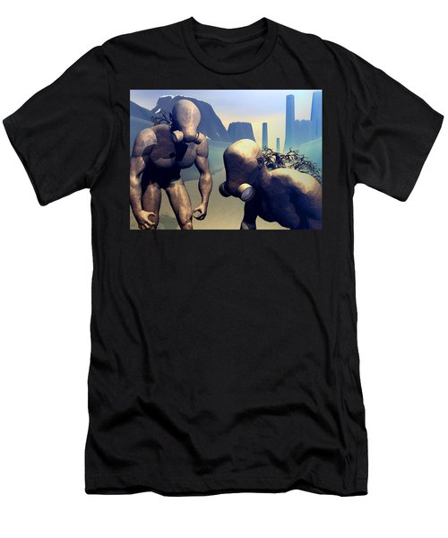 Men's T-Shirt (Slim Fit) featuring the digital art The Future Ancients by John Alexander