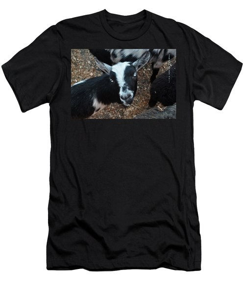 Men's T-Shirt (Slim Fit) featuring the photograph The Goat With The Gorgeous Eyes by Verana Stark