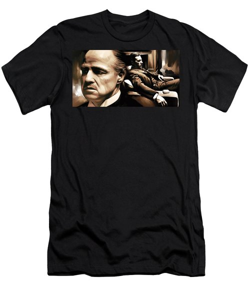 The Godfather Artwork Men's T-Shirt (Athletic Fit)