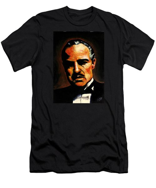 Men's T-Shirt (Slim Fit) featuring the painting Godfather by Salman Ravish