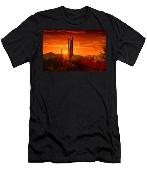 The Golden Southwest Skies  Men's T-Shirt (Athletic Fit)