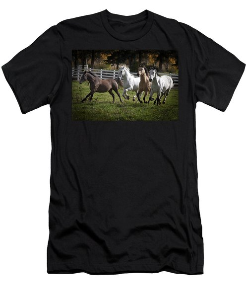 Men's T-Shirt (Slim Fit) featuring the photograph The Goldendale Four 7277 by Wes and Dotty Weber