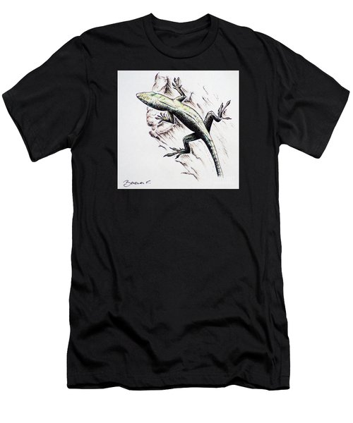 The Green Lizard Men's T-Shirt (Athletic Fit)