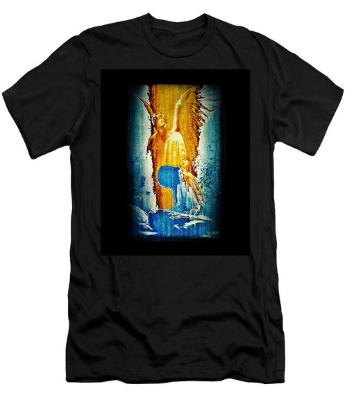 The Guardian Angel Men's T-Shirt (Slim Fit) by Absinthe Art By Michelle LeAnn Scott
