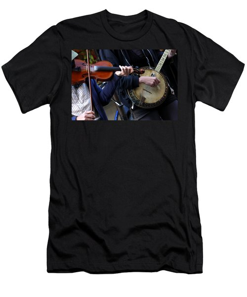 Men's T-Shirt (Athletic Fit) featuring the photograph The Hands Of Jazz by KG Thienemann