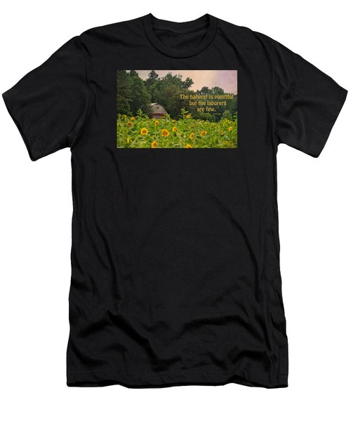 The Harvest Is Plentiful Men's T-Shirt (Slim Fit) by Sandi OReilly