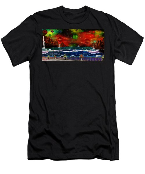 The Heavens Men's T-Shirt (Slim Fit) by Michael Rucker
