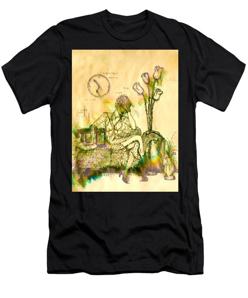 The Hold Up Sepia Tone Men's T-Shirt (Athletic Fit)