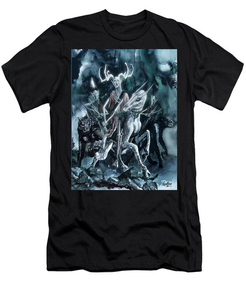 The Horned King Men's T-Shirt (Slim Fit) by Curtiss Shaffer
