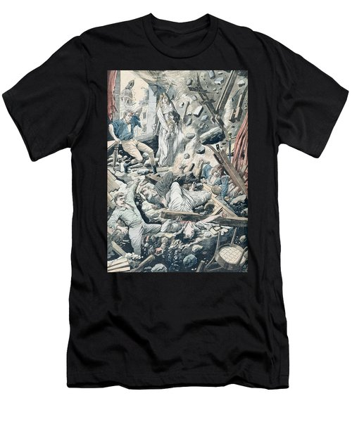 The Horrible Consequences Of A Terrible Earthquake In San Francisco Men's T-Shirt (Athletic Fit)
