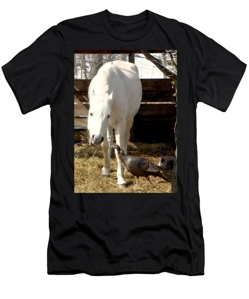 The Horse And The Turkey Men's T-Shirt (Athletic Fit)