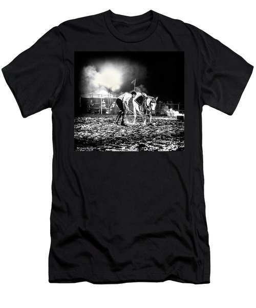 Men's T-Shirt (Athletic Fit) featuring the photograph The Horse That Suffered  by Stwayne Keubrick