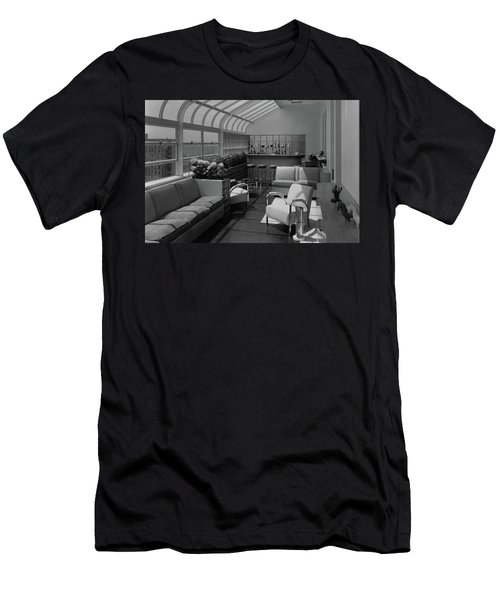 The Interior Of A Rooftop Terrace Men's T-Shirt (Athletic Fit)