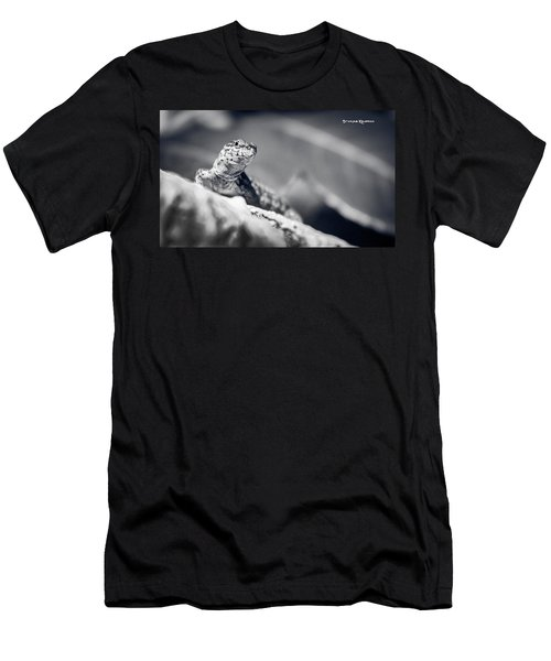 Men's T-Shirt (Athletic Fit) featuring the photograph The Iron Lizard II by Stwayne Keubrick