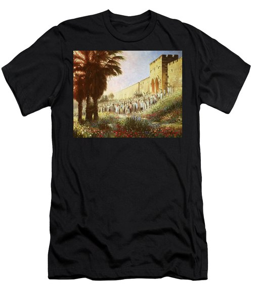 The King Is Coming  Jerusalem Men's T-Shirt (Athletic Fit)