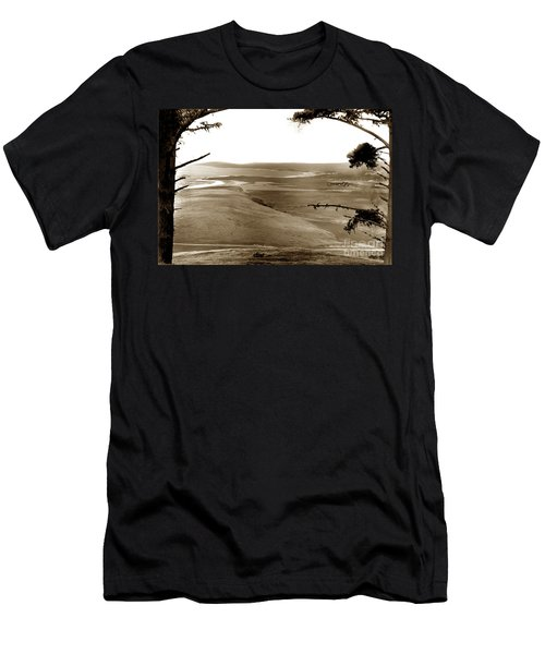 The Lagoon At The Mouth Of The Carmel River  From Fish Ranch California 1905 Men's T-Shirt (Athletic Fit)