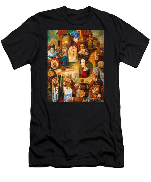 Men's T-Shirt (Slim Fit) featuring the painting The Letter by Igor Postash