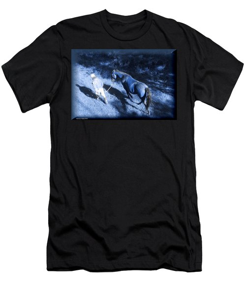 The Light And Shadows Of A Man And His Horse Men's T-Shirt (Athletic Fit)
