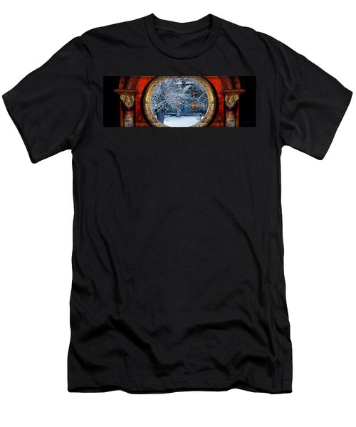 Men's T-Shirt (Athletic Fit) featuring the photograph The Light In The Window by Gunter Nezhoda