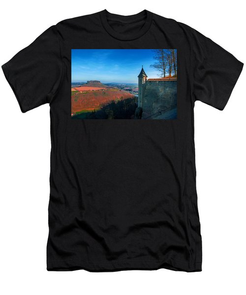 The Lilienstein Behind The Fortress Koenigstein Men's T-Shirt (Athletic Fit)
