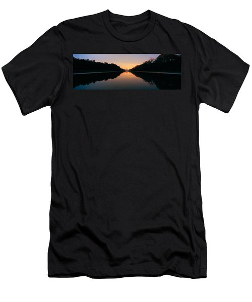 The Lincoln Memorial At Sunset Men's T-Shirt (Slim Fit) by Panoramic Images
