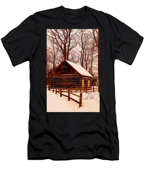 The Log Cabin At Old Mission Point Men's T-Shirt (Athletic Fit)