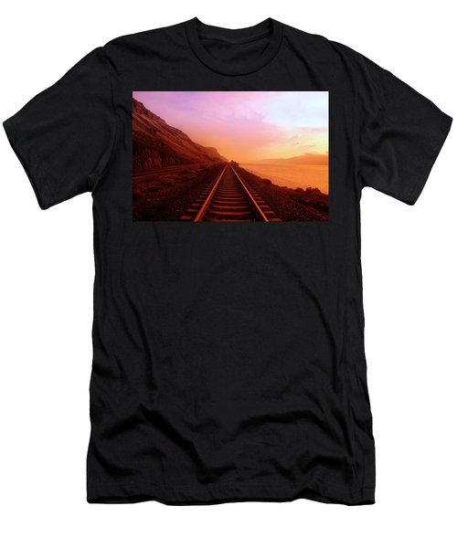 The Long Walk To No Where  Men's T-Shirt (Athletic Fit)