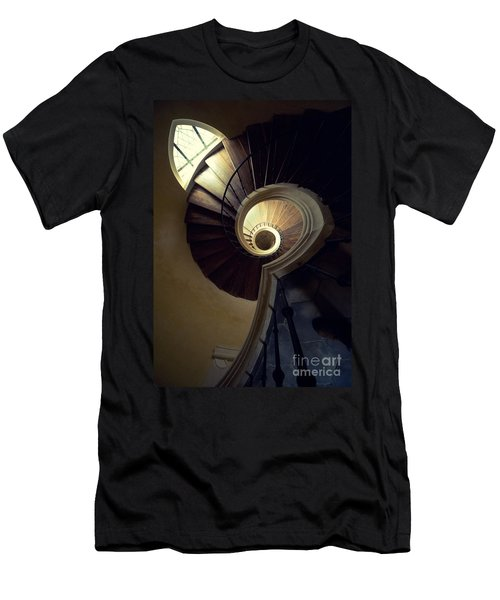 Men's T-Shirt (Athletic Fit) featuring the photograph The Lost Tower by Jaroslaw Blaminsky