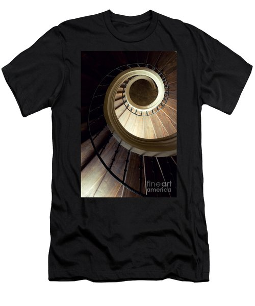 Men's T-Shirt (Athletic Fit) featuring the photograph The Lost Wooden Tower by Jaroslaw Blaminsky