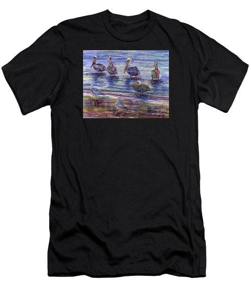 The Majestic Pelican Visit Men's T-Shirt (Athletic Fit)