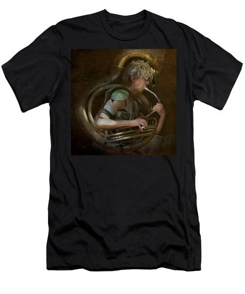 The Man - The Tuba Men's T-Shirt (Slim Fit) by Jeff Burgess