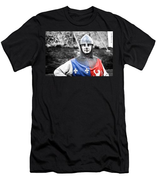 Men's T-Shirt (Athletic Fit) featuring the photograph The Medieval Warrior by Stwayne Keubrick
