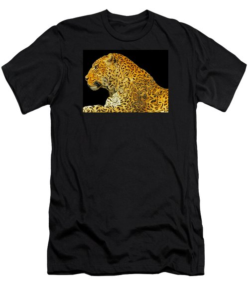 The Mighty Panthera Pardus Men's T-Shirt (Slim Fit) by Emmy Marie Vickers