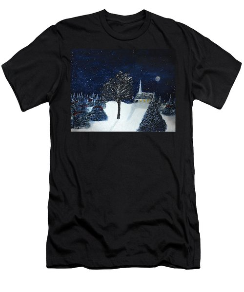 The Night Before Christmas Men's T-Shirt (Slim Fit) by Dick Bourgault