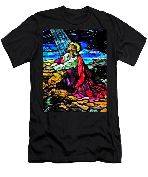 The Night Before The Cross Men's T-Shirt (Slim Fit) by Lydia Holly