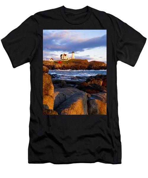 The Nubble Lighthouse Men's T-Shirt (Athletic Fit)