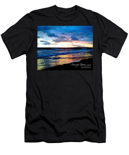 The Ocean Flows With Amazing Grace Men's T-Shirt (Athletic Fit)