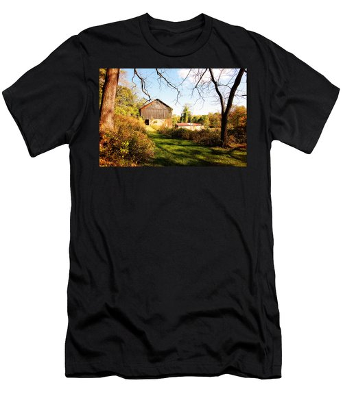 Men's T-Shirt (Slim Fit) featuring the photograph The Old Barn by Trina  Ansel