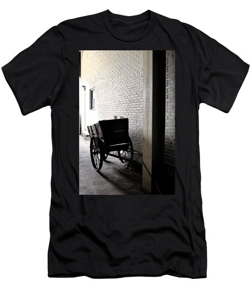 Men's T-Shirt (Slim Fit) featuring the photograph The Old Cart From The Series View Of An Old Railroad by Verana Stark