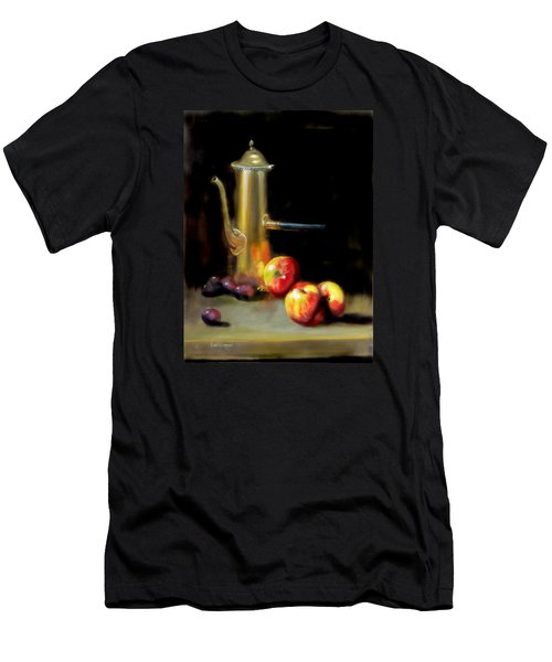 Men's T-Shirt (Slim Fit) featuring the painting The Old Coffee Pot by Barry Williamson